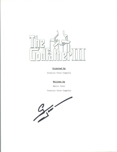 George Hamilton Signed Autographed THE GODFATHER PART III 3 Movie Script COA