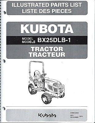 Kubota Bx25dlb-1 Tractor Illustrated Parts Manual 97898-42920