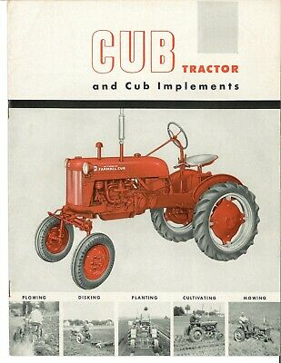 1950 Ih Farmall Cub Tractor Brochure Implements Plows Planters Cultivator