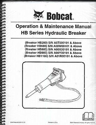 Bobcat Hb Series Hydraulic Breaker Operation Maintenance Manual