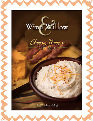 WIND & WILLOW 1 Pak Cheesy Bacon Dip Mix~For Chips, Veggies, Crackers, Topper - Dip For Crackers