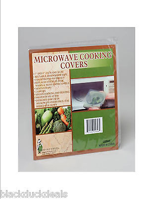 Microwave Cooking Covers 2 Clear Covers Per Pack - Less Mess and Less Cleaning