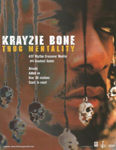 Bone Thugs n harmony KRAYZIE BONE Rare 1999 PROMO TRADE AD Poster for Thug CD