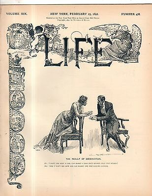 1892 Life February 25 - Life supports the electric Chair;Women make a man an ass
