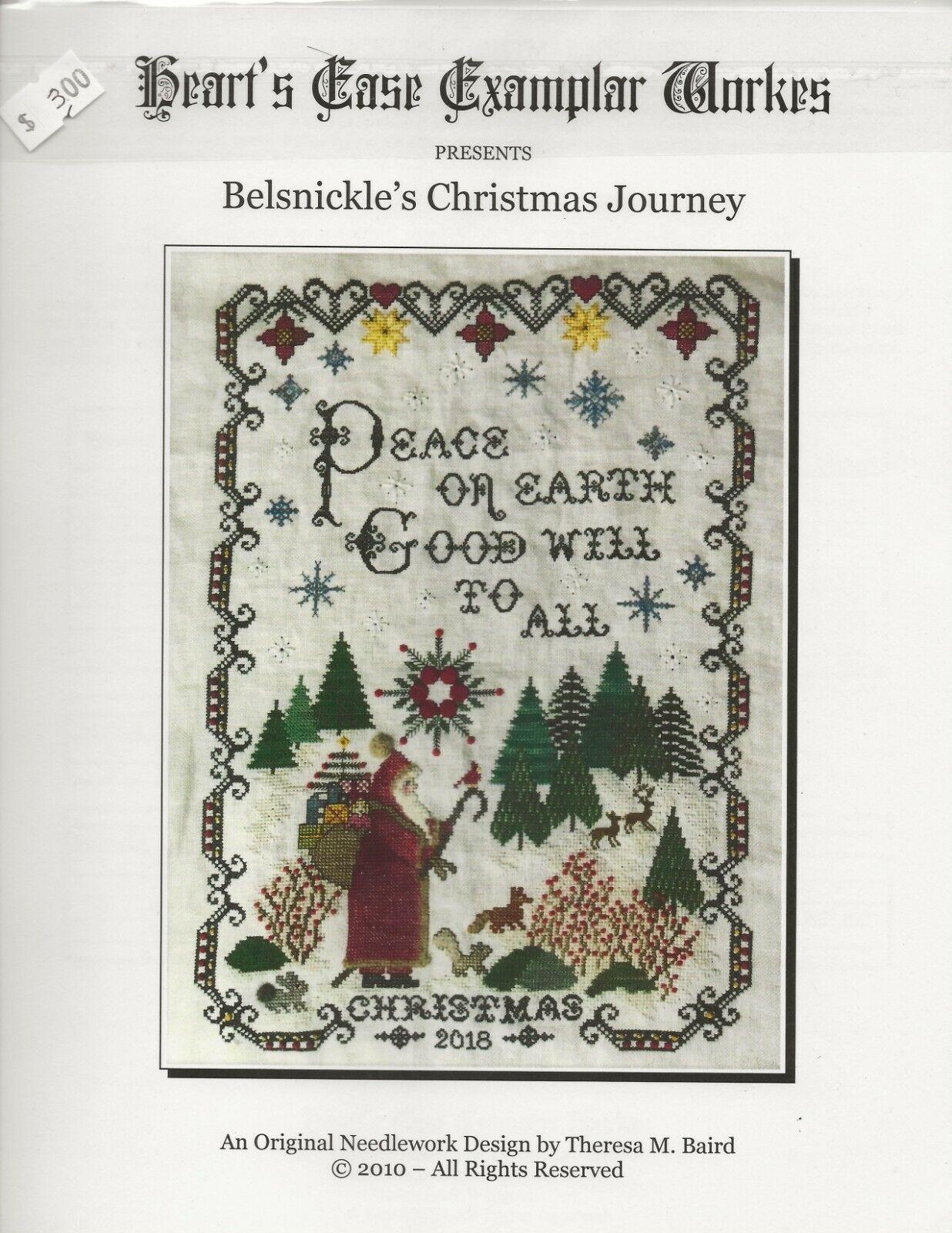 Belsnickle s Christmas Journey Cross Stitch Needlework Chart HeartsEaseExamplar - $20.00