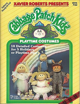 Cabbage Patch Kids PLAYTIME COSTUMES Xavier Roberts Sewing Pattern Book NEW OOP for sale  Shipping to India
