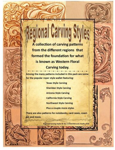 Regional Carving Style Patterns for Leather Carving by Jim Linnell