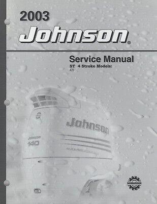 2003 JOHNSON OUTBOARD ST 4 STROKE 4 & 5 SERVICE MANUAL P/N 5005472 (522)