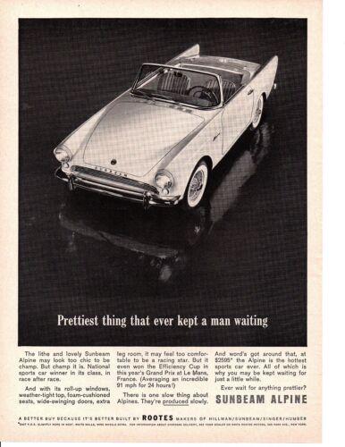 1962 SUNBEAM ALPINE  ~   CLASSIC ORIGINAL PRINT AD