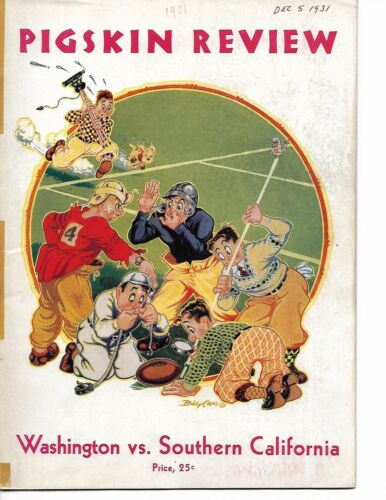1931 USC Southern California-Washington Program Trojans National Champs NICE!!