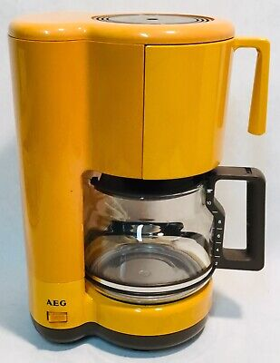 Yellow orange AEG KF1400 filter coffee machine kaffeemaschine tested & working