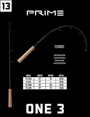"New ONE 3 Prime Ice Rod 26"" Medium Light - Tennessee Handle P2-26ML"