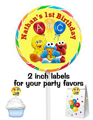 20 BABY SESAME STREET ELMO BIRTHDAY PARTY FAVORS STICKERS LABELS FOR YOUR FAVORS](Baby Elmo Party Supplies)