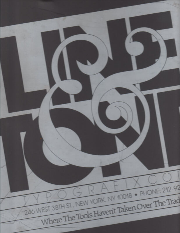 Typography Reference book by Line & Tone Typografix Corp. Over 800 Fonts