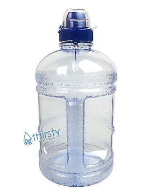 BPA Free Half Gallon Water Bottle Drinking Jug Canteen Sports Cap 64 oz Aqua H2O for sale  Shipping to India