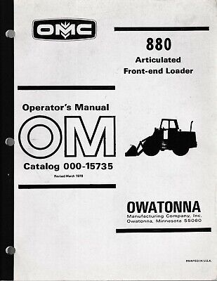 Mustang Omc 880 Articulated Front-end Loader Operators Manual