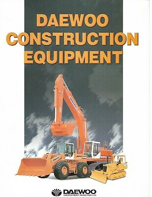 Equipment Brochure - Daewoo - Construction Product Line Overview - C1997 E6380