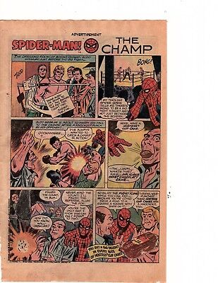 Hostess cupcakes  spider-man   in the champ   Comic Print Ad