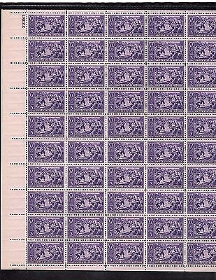 MINT  SHEET SCOTT#855, 3C STAMP BASEBALL SHEET OF 50 MNH OG BCV $100