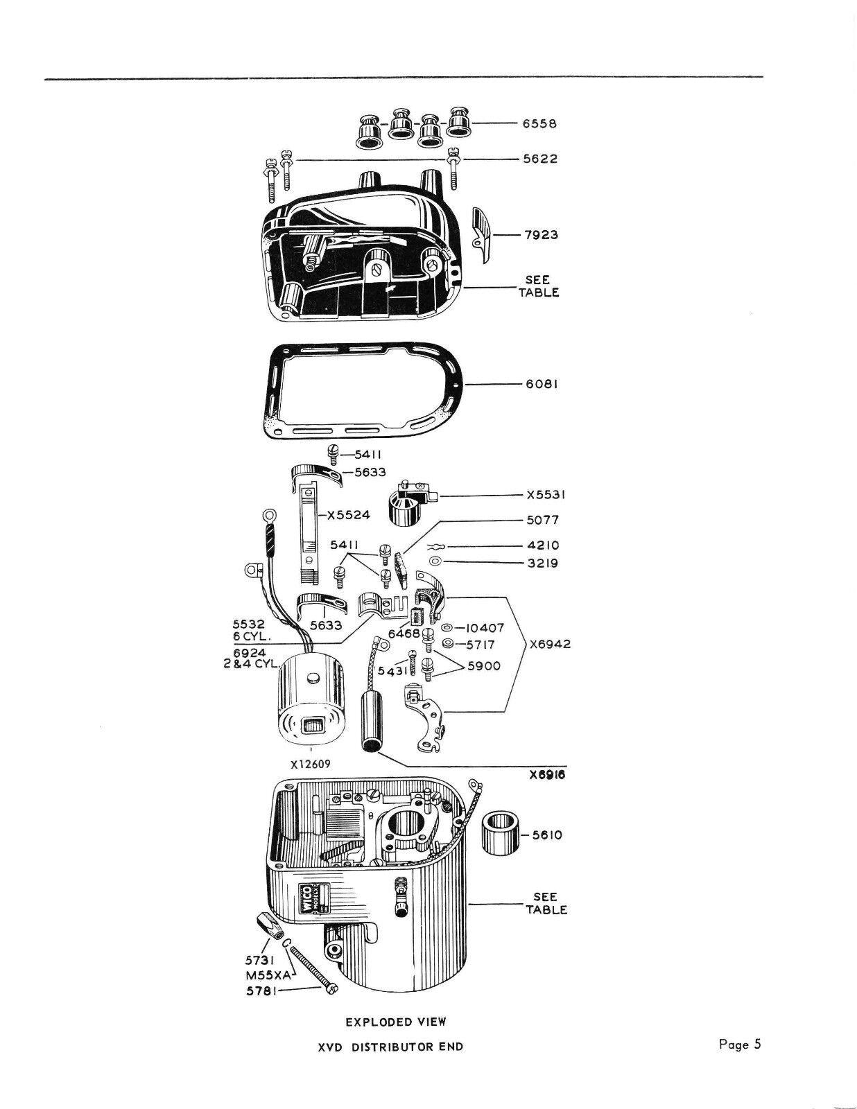 wico magneto service parts manual for xvd xve magnetos john rh picclick com Magneto Wiring Schematic Wu Pin E198635 Wiring Schematic