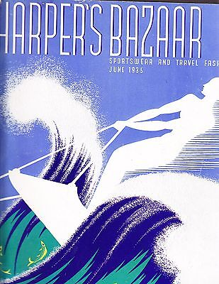 Harper's Bazaar June 1935 Erte Sportswear Travel Muncaksi Princess Natalie Paley