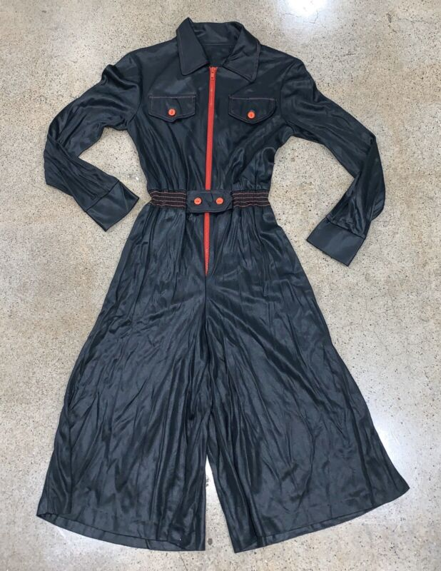 Vtg 60s 70s Vicky Vaughn Hollywood Jumpsuit Disco Romper Small S Mod