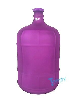 Purple 3 Gallon GLASS Water Bottle Frosted Carboy Canteen Jug Container Jar Brew