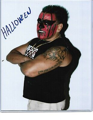 Photo Halloween 2019 (2019 Leaf Wrestling Signed Auto Autograph 8x10 Photo)