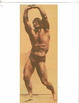 bodybuilder JOHN GRIMEK Outdoor Pose Bodybuilding Muscle Photo B&W