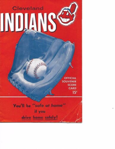 1955 Cleveland Indians-Tigers Program Tigers Sweep 3 Maris!!