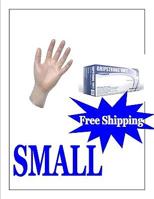 1000 GLOVES (1 CASE) Vinyl Disposable Gloves Powder Free SMALL - FREE SHIPPING