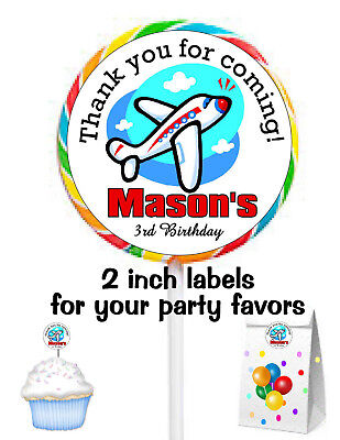 20 AIRPLANE BIRTHDAY PARTY FAVORS STICKERS LABELS FOR PARTY FAVORS