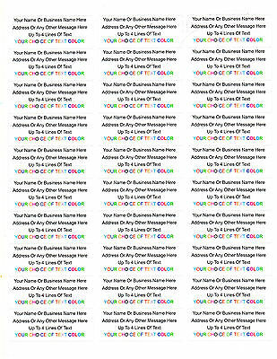 450 Personalized Returnmailing Address Labels - 1 X 2.625 - Free Usa Shipping
