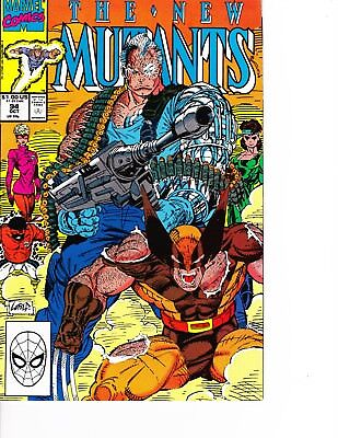 Cable Vs Deadpool (New Mutants #94 Wolverine vs Cable! Deadpool movie FREE SHIPPING @ $30)