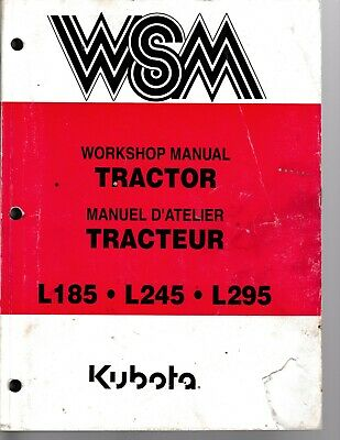 Kubota L185 L245 And L295 Tractor Workshop Manual