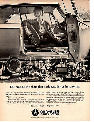 1964 CHRYSLER 300  ~  CLASSIC ORIGINAL PRINT AD