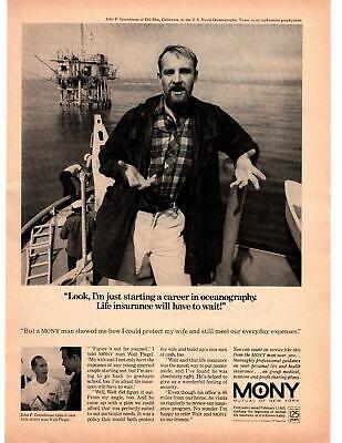 1967 Mutual Of New York Life Insurance U.S. Naval Oceanographic Tower Print Ad
