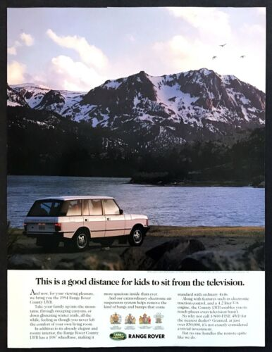 1994 Land Rover Range Rover County LWB photo For Your Viewing Pleasure print ad