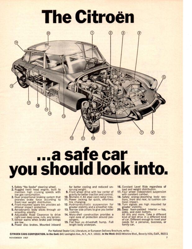 1968 CITROEN DS-19 / DS-21  ~  CLASSIC ORIGINAL PRINT AD
