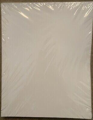 New 2-pocket Glossy Laminated White Presentation Folders 9.25 X 12 25-pack