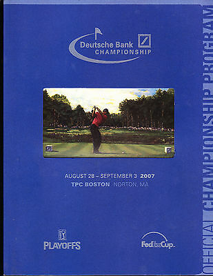 Deutsche Bank Championship Golf Pga Program 2007 Tiger Woods Phil Mickelson
