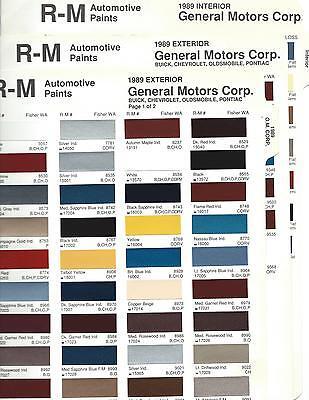 1989 GM CHEVROLET PONTIAC CORVETTE BUICK OLDSMOBILE PAINT CHIPS R-M