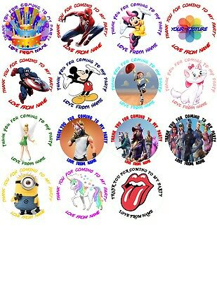 PERSONALIZED PARTY STICKERS LABLES/THANK YOU FOR COMING TO MY PARTY/BAG SEAL - Personalized Party Bags