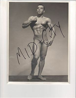 Bodybuilder Enrico Tomas Mr Universe 1954 Muscle Photo B W Arax Original
