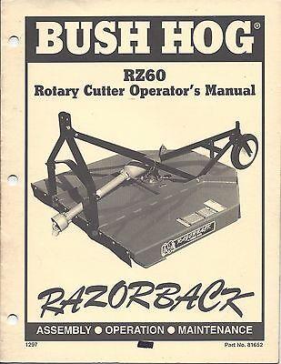Bush Hog Model Rz60 Series Operator Manual 81652