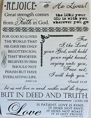Religious Rejoice Love He Lives Bible Verse Phrase Scrapbook Stickers - He Lives He Lives
