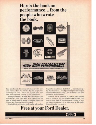 1966 FORD HIGH PERFORMACE ACCESSORIES BOOK ~ ORIGINAL PRINT AD