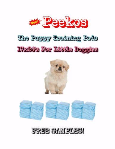 "300-17x24"" Peekos the Lightweight Puppy Training Pads Made for Little Doggies"