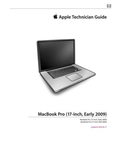 apple technician service pdf manual for macbook pro 17 early mid rh ebay com 15 Inch MacBook Pro 2015 macbook pro 17 mid 2009 service manual