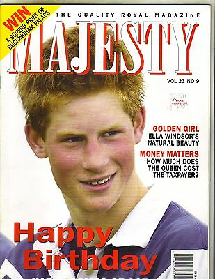 Prince Harry Uk Majesty Magazine 9 02 Vol 23 No 9 Ella Windsor